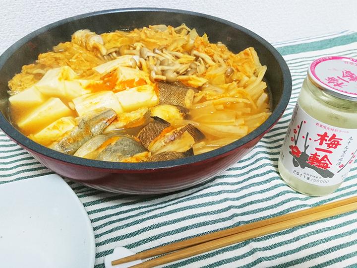 クジメを使った韓国風のチゲ鍋