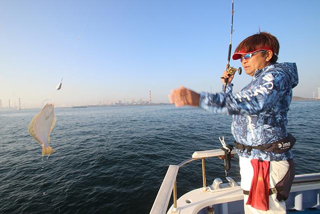 ヒラメがよく釣れる