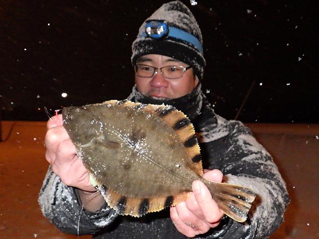 真冬のヌマガレイ釣り!